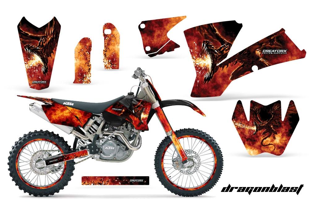 Dragonblast Creatorx Custom Dirt Bike Graphics Kits For Honda