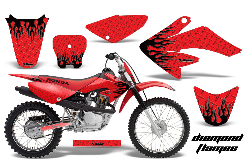 Honda CRF CRF Graphic Kits Honda MX Decals And - Decal graphics for dirt bikes
