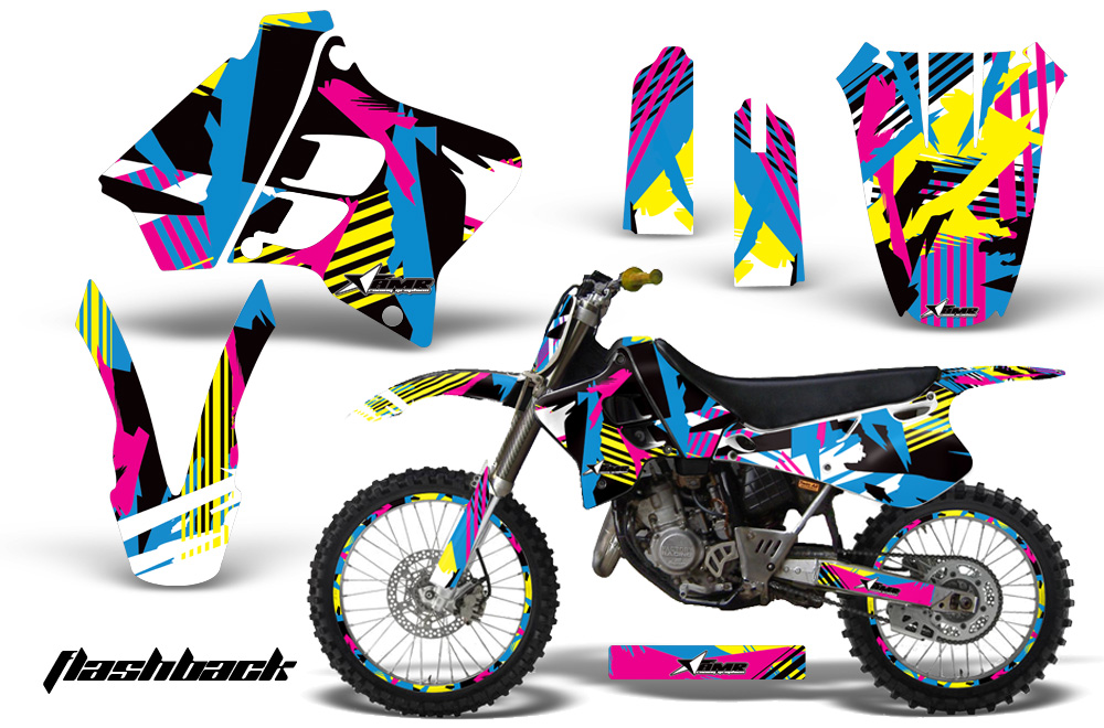 Yamaha YZ125 YZ250 2 Stroke 1993-1995 Graphics Kit on
