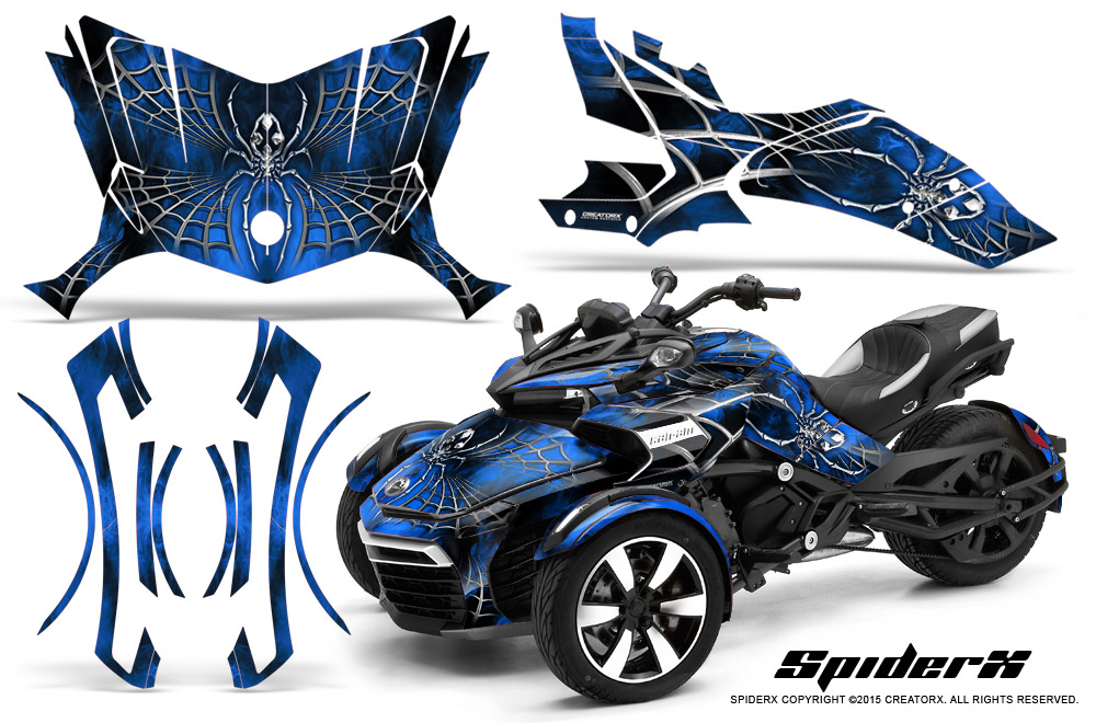 Can Am Spyder F3 >> Can-Am BRP Spyder F3-S Graphics Kit