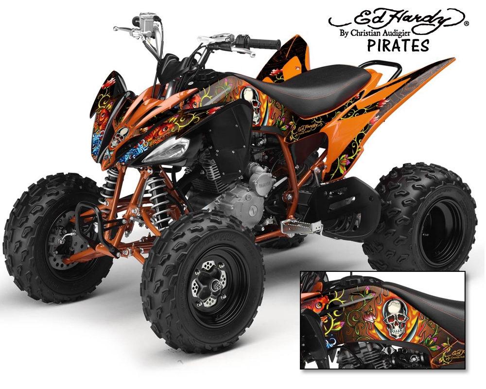 Ed Hardy Yamaha ATV Graphics Kit Yamaha Parts