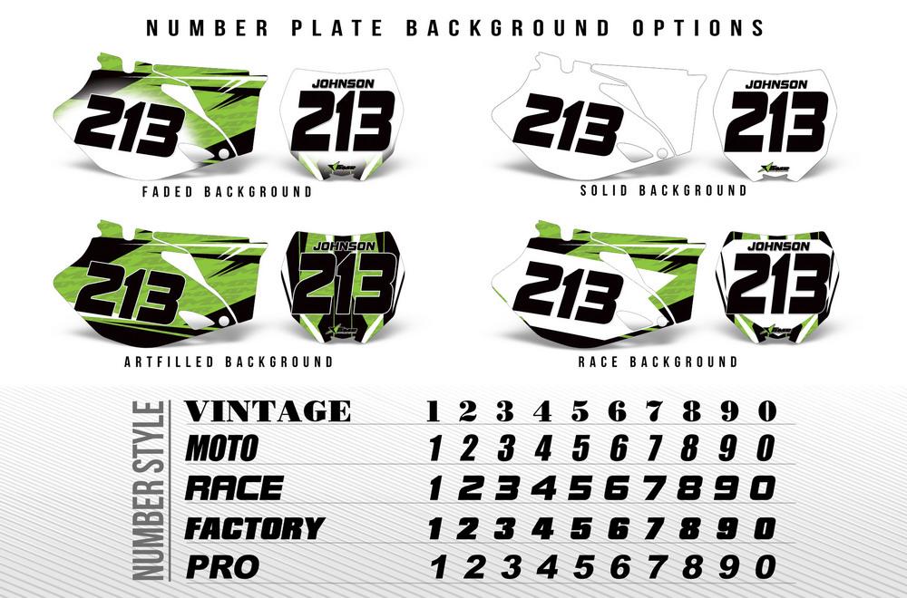 Number Plate Graphic Backgrounds For Honda Ktm Suzuki Yamaha