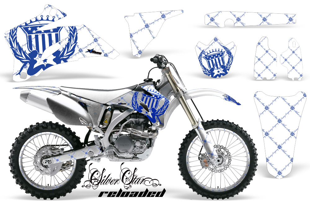 Yamaha mx graphic kit for yz250 yz450 f wr450 wr250 yz125 for Yamaha dirt bike plastics