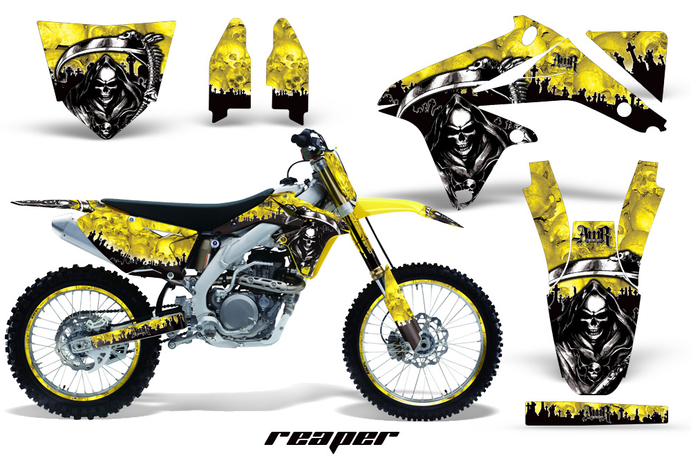 suzuki dirt bike graphic kits for rmz 450, rmz 250, rm 125, rm 250