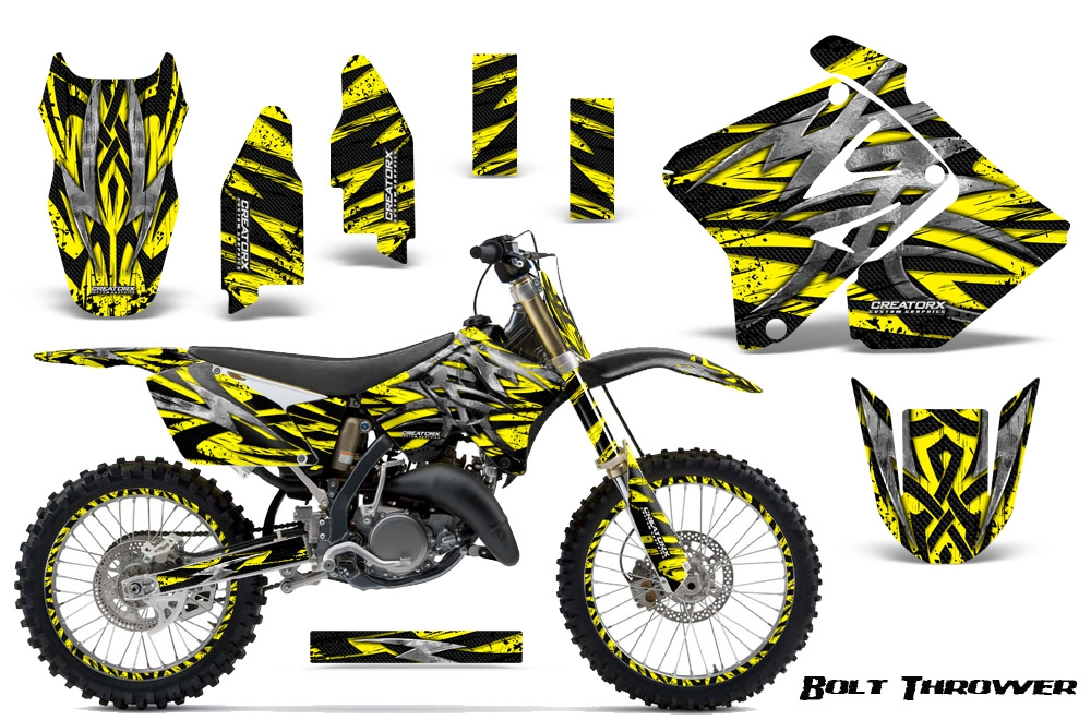 suzuki dirt bike graphic kits for rmz 450 rmz 250 rm 125. Black Bedroom Furniture Sets. Home Design Ideas