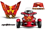 Can-Am BRP Spyder RTS Hood and Rear Fender Graphics Kit