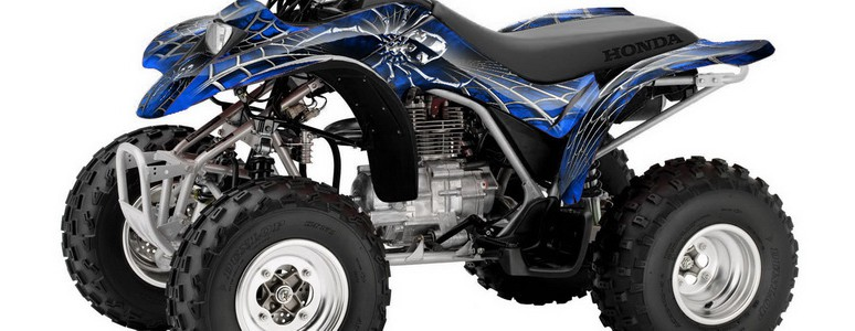 Honda TRX250 02-04 CREATORX Graphics Kit SpiderX Blue