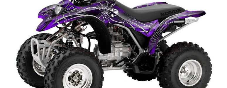 Honda TRX250 02-04 CREATORX Graphics Kit SpiderX Purple