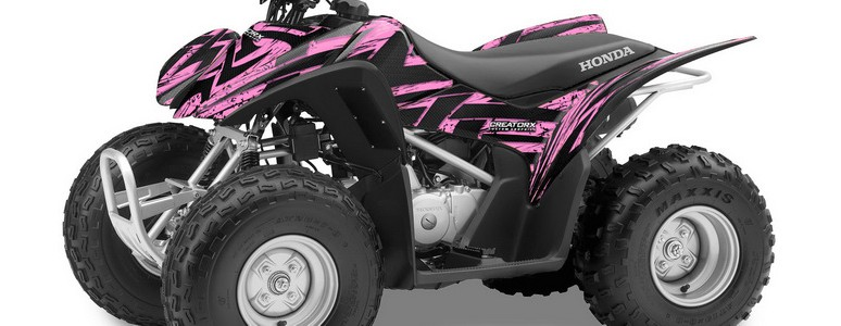 Honda TRX 90 CREATORX Graphics Kit Tribal Madness PinkLite