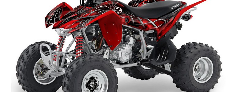 TRX400EX 08-10 CREATORX Graphics Kit SpiderX Red