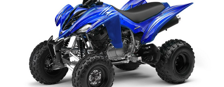 Yamaha Raptor 350 CREATORX Graphics Kit Cold Fusion Blue