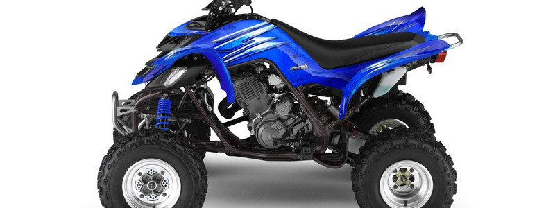 Yamaha Raptor 660 CREATORX Graphics Kit Cold Fusion Blue