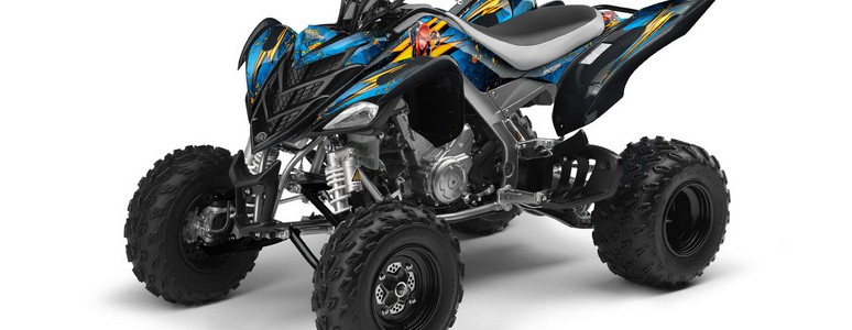 YAMAHA Raptor 700 CREATORX Graphics Kit Purrfect BlueIce