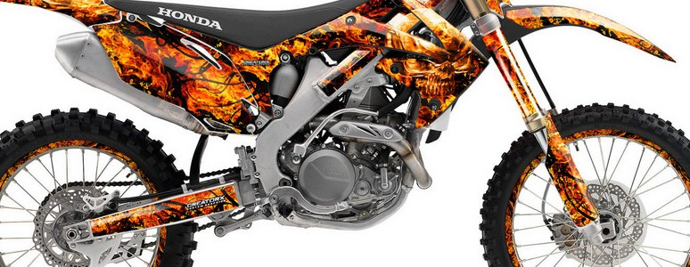Honda CRF250 10-12 CRF450 09-12 Graphics Inferno Orange