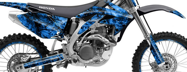 Honda CRF 450R 05-08 Graphics Kit Inferno Blue
