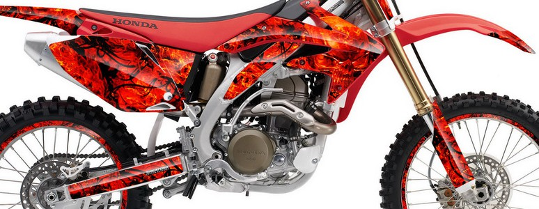 Honda CRF 450R 05-08 Graphics Kit Inferno Red