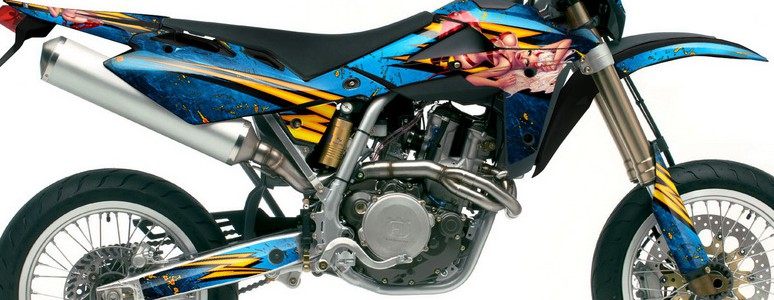 Husqvarna SMR 05-07 Graphics Kit Little Sins Blue Ice