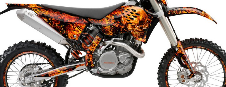 KTM C5 Graphics Kit Inferno Orange