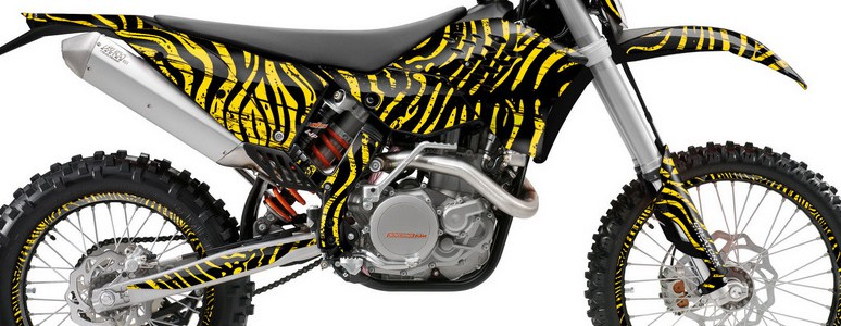 KTM C5 Graphics Kit ZCamo Yellow