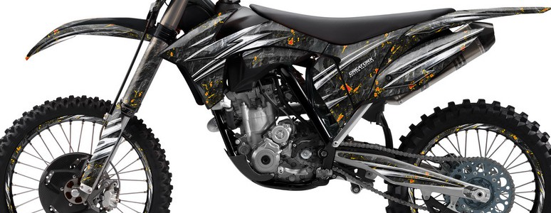 KTM C7 2011 SX-F Graphics Kit Rocks n Bolts Black