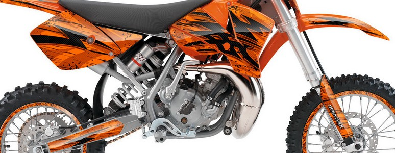 KTM SX65 02-08 Graphics Kit Tribal Bolts Orange