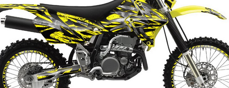Suzuki DRZ400 Enduro Graphics Kit Bolt Thrower Yellow