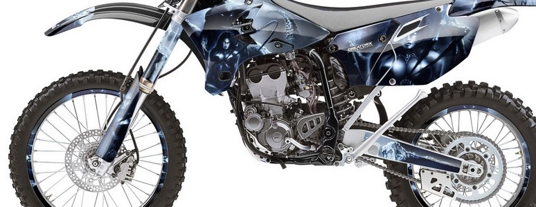 Kawasaki dirt bike graphic kits for kxf 450 kxf 450 kx for Yamaha dirt bike plastics