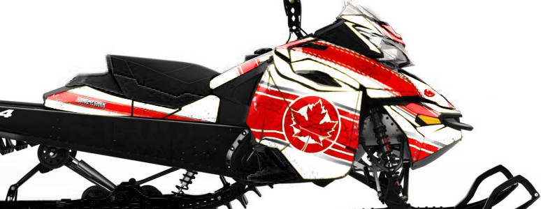 Skidoo RevXM CREATORX Graphics Kit Canadian Flyer Red White