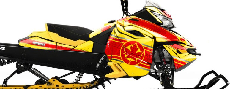 Skidoo RevXM CREATORX Graphics Kit Canadian Flyer Red Yellow