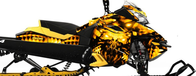 Skidoo RevXM CREATORX Graphics Kit Replicator Yellow
