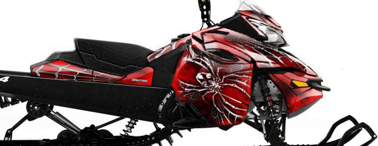 Skidoo RevXM CREATORX Graphics Kit SpiderX Red